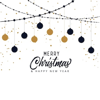 Elegant merry christmas festival background