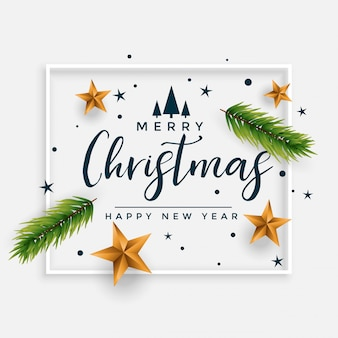 Elegant merry christmas festival decorative card design