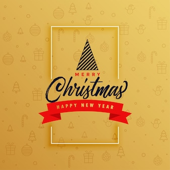 Elegant merry christmas greeting card design