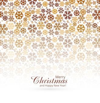 Элегантная рождественская поздравительная открытка со снежинками