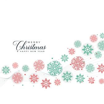 Elegant merry christmas snowflakes background