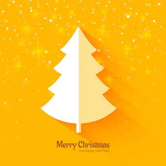 Elegant merry christmas tree background