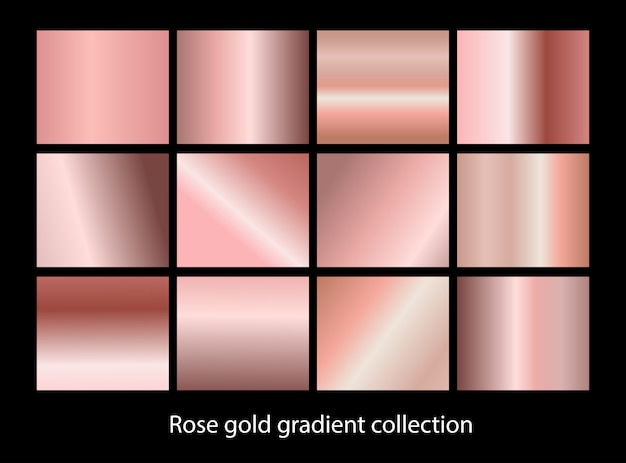Elegant metallic gradient background set