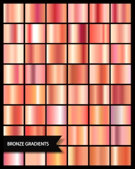 Elegant metallic gradient shiny rose gold, medals gradients