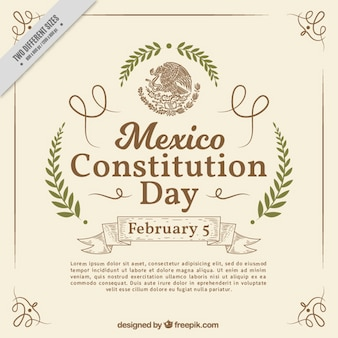 Elegant mexico constitution day background