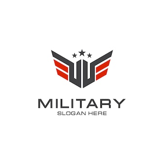 Elegant military logo design