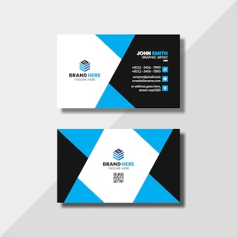 Elegant minimal and abstract business card template