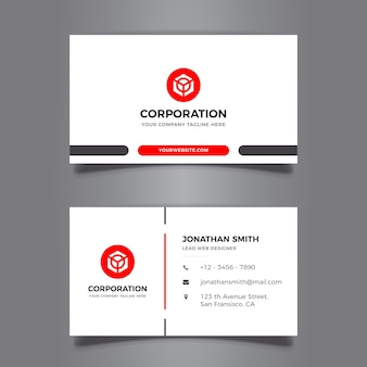 Elegant minimal business card design