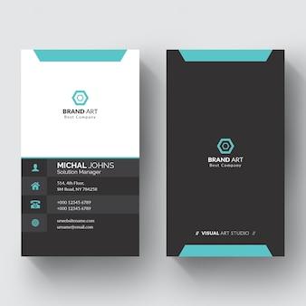 Элегантный минимальный шаблон визитной карточки Premium векторы