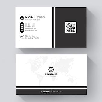 Элегантный минимальный шаблон визитной карточки