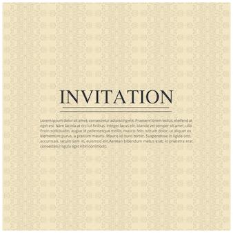 Elegant minimal wedding invitation template
