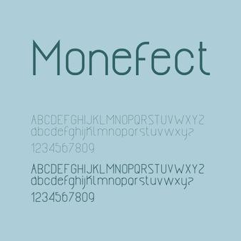 エレガントなミニマリズムモダンなアルファベット文字またはフォントカジュアルなタイポグラフィフォントロゴフォントプレミアムベクトル