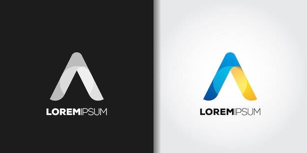 Elegant minimalism letter a logo