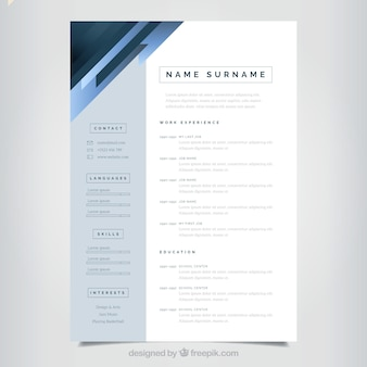 Elegant and minimalist curriculum template