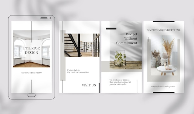 Elegant minimalist design instagram stories