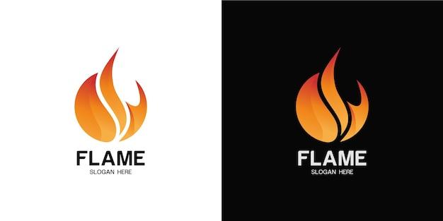 Elegant minimalist fire logo set