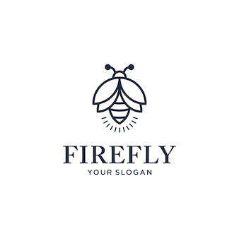 Elegant minimalist firefly logo design with a line style