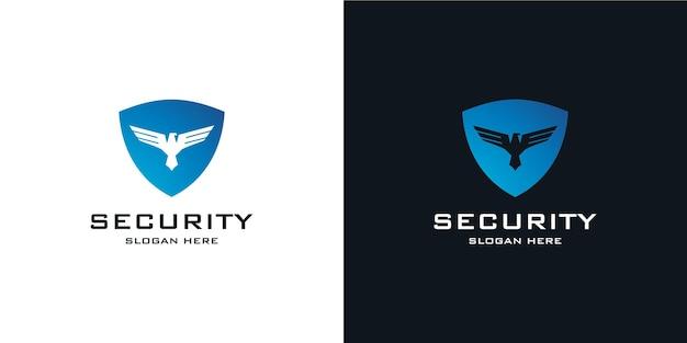 Elegant minimalist shield logo in tech style