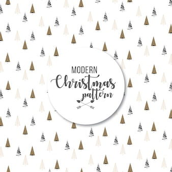Elegant modern abstract christmas trees pattern background