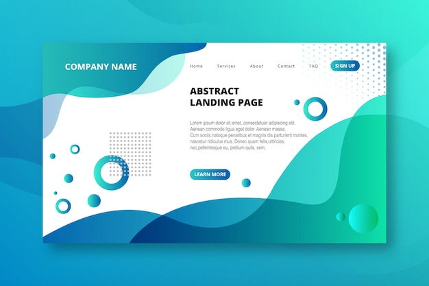 Elegant modern abstract landing page template
