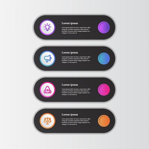 비즈니스 아이콘으로 우아한 현대적인 아름다움 정보 그래픽