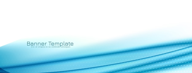 Elegante e moderno banner design onda blu