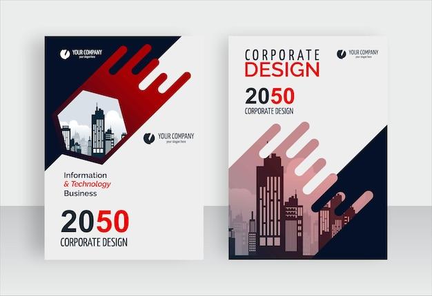 Elegant modern business book cover design template