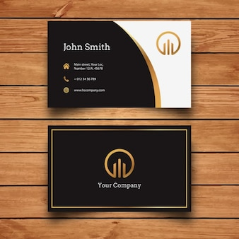 Elegant modern business card design