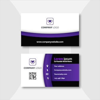 Elegant modern business card template
