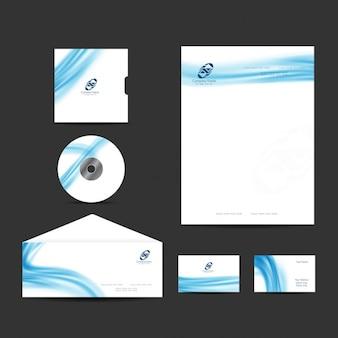 Elegant modern business stationery design