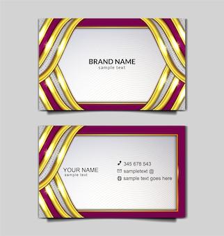 Elegant modern bussines card template set