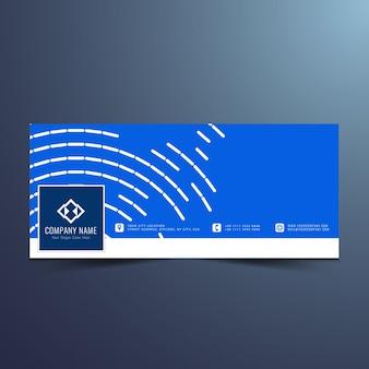 Elegante moderno design timeline facebook Vettore gratuito