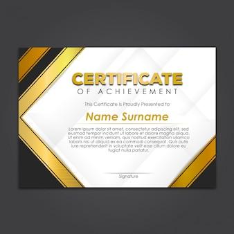 Elegant modern golden certificate