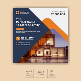 Elegant-modern-home-real-estate-social-insta-post-template-set