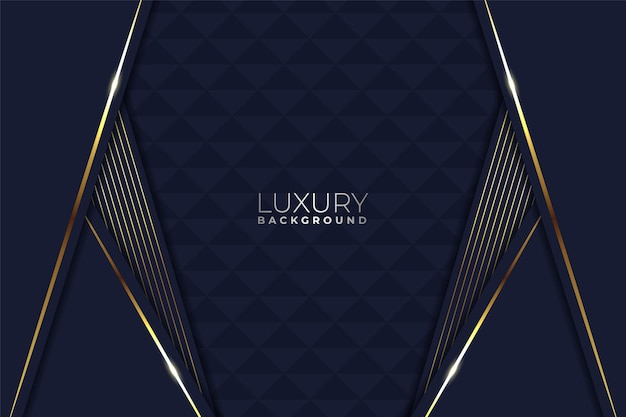 Elegant modern luxury diagonal overlapped layer navy with glowing golden background