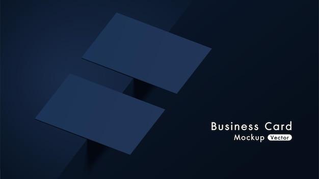 Elegant and modern navy business cards mockup