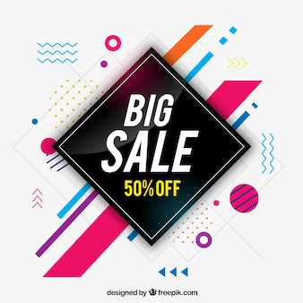Elegant modern sale background