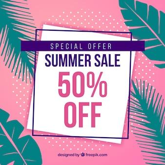 Elegant modern summer sale background