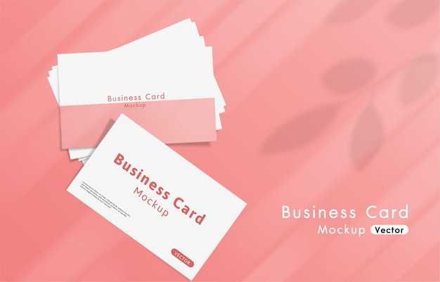 Elegant and modern white business cards mockup