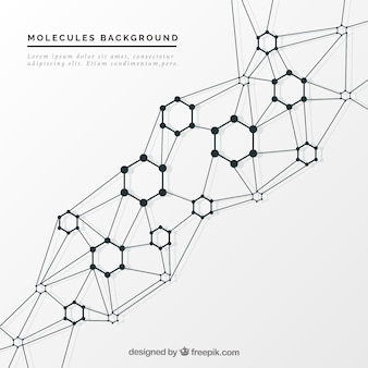 Elegant molecular background