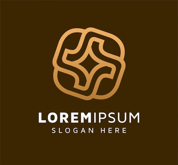 Elegant monoline leaf logo design