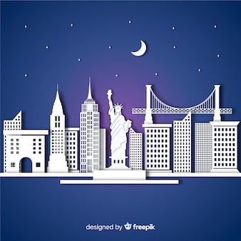 Elegant monument composition with flat design