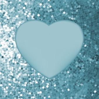 Элегантная мозаика светящийся фон сердца.
