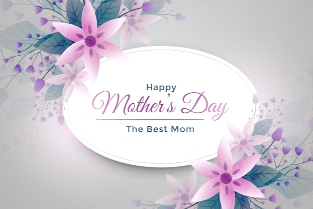 Elegant mother's day flower greeting