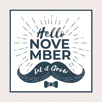 Elegant movember composition with vintage style
