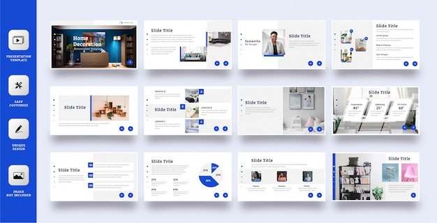Elegant multipurpose presentation template set 12 pages