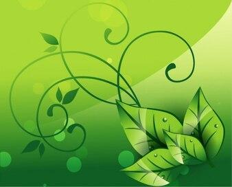 Elegant nature background vector graphic
