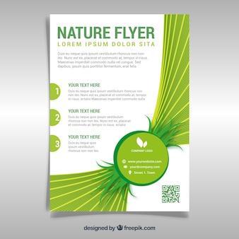 Elegant nature flyer template