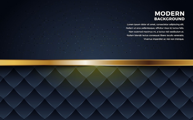 Elegant navy blue background with overlap layers.
