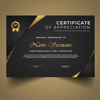 Elegant new certificate template modern diploma design